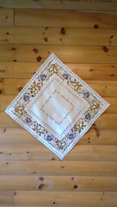 33 x 33 Square  Table Accent Butterfly Pattern