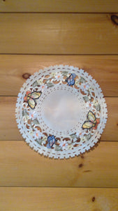 "8"" Round Table Accent Butterfly Pattern"