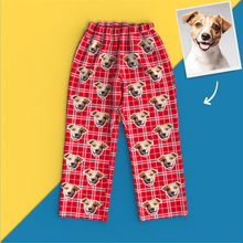 Custom Face Pajamas - Red Grid
