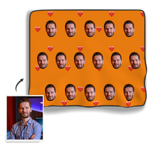 Heart Face Blanket - MyPhotoSocks
