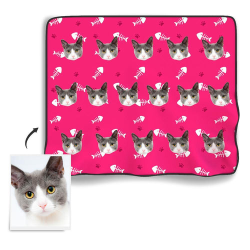 Cat Photo Blanket - Facesboxeruk
