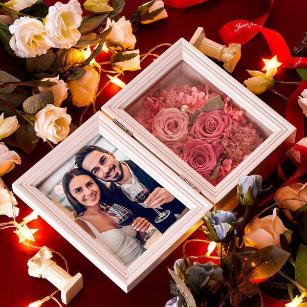 Personalized Eternal Flower Immortal Rose With Photo