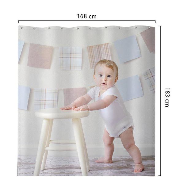 Custom Shower Curtain Unique Bathroom Decor Cute Baby