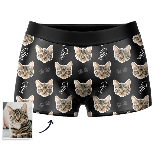 Custom Cat Boxer Shorts - Facesboxeruk