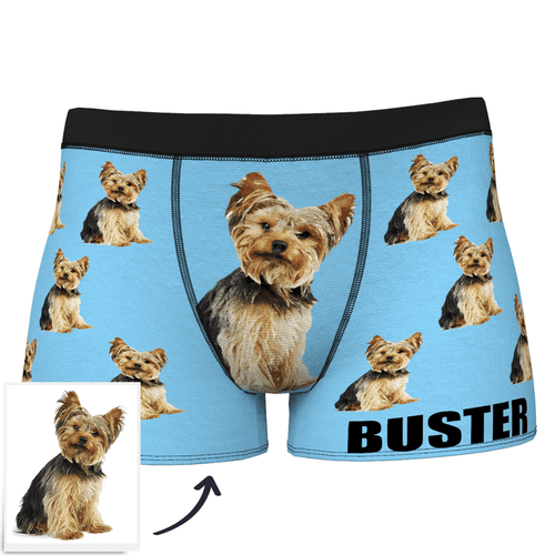 Custom Dog Boxer Shorts Painted Art Portrait - MyFaceSocksUK