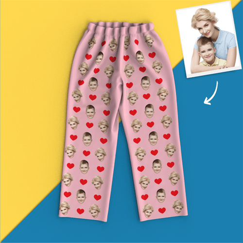 Custom Face Pajamas Home Pajamas- Heart