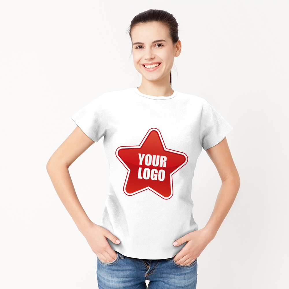 Personalized Logo Shirt Formal Women's T-shirt