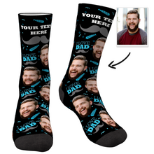 Custom I Love Dad Socks With Your Text - faceboxeruk