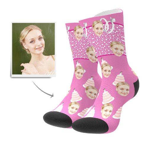 Custom Cake Socks - Facesboxeruk