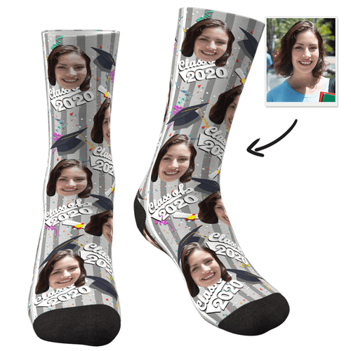 Custom Grad Socks (Confetti)