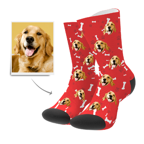 Custom Dog Socks With Your Text - Facesboxeruk