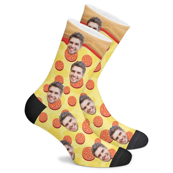 Custom Pizza Socks - Facesboxeruk