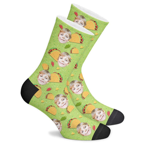 Custom Taco Socks - Facesboxeruk