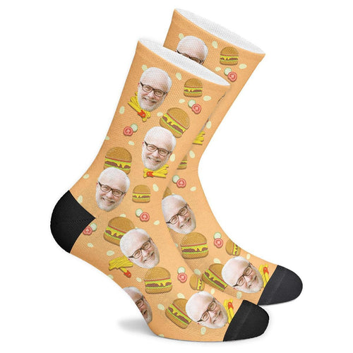 Custom Burger Socks - Facesboxeruk