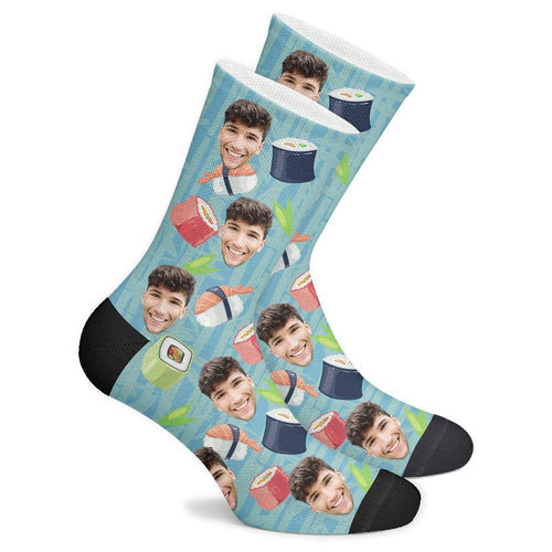 Custom Sushi Socks - Facesboxeruk