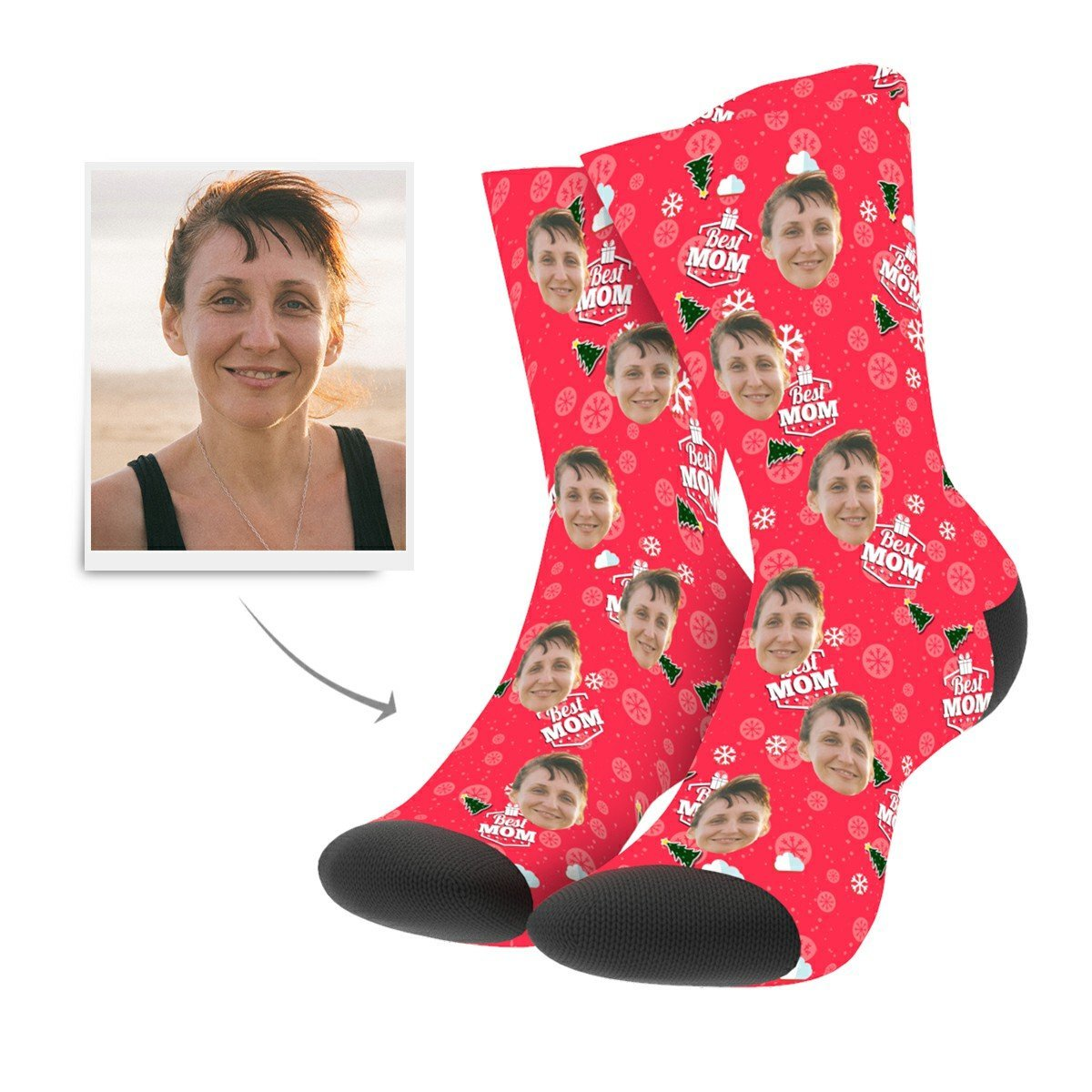 Custom Mom Socks - Facesboxeruk
