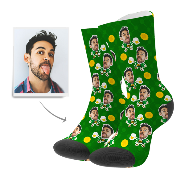 Custom St. Patrick's Day Face Socks - Facesboxeruk