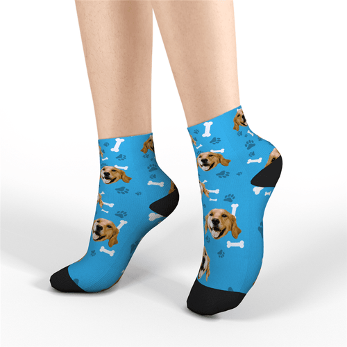 Custom Short Socks Dog - Facesboxeruk