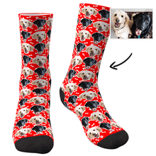 Custom Face Dog Socks Corlorful - Facesboxeruk