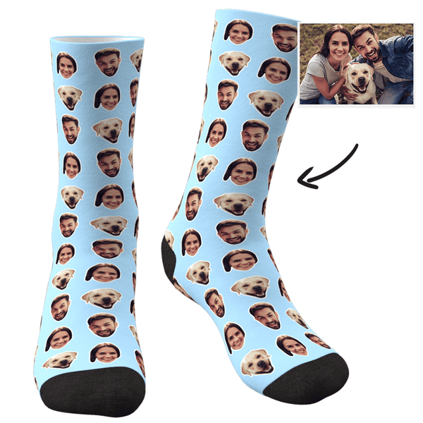 Custom Corlorful Socks With Your Photo - Facesboxeruk
