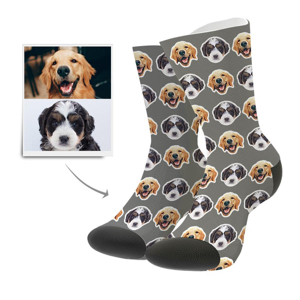 Custom Face Socks Comic Style
