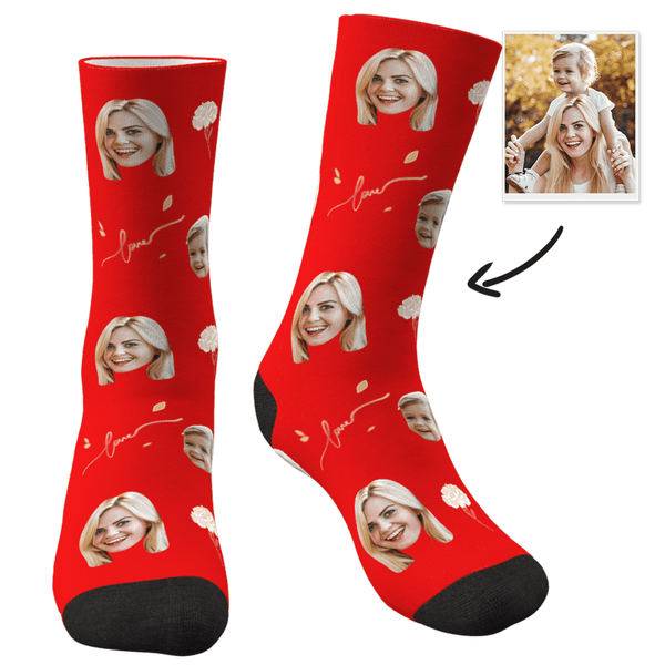 Custom Photo Socks Love - Faceboxeruk