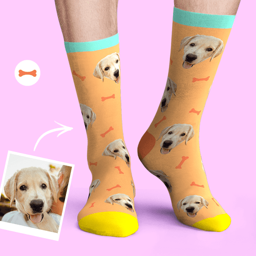 Custom Dog Face Socks Photo Pet Sock