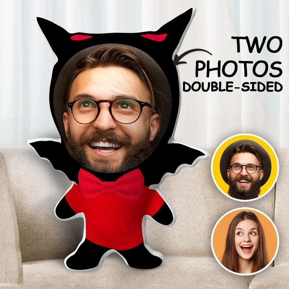 Custom Two Photos Double Sided Pillow Gift Batman Face
