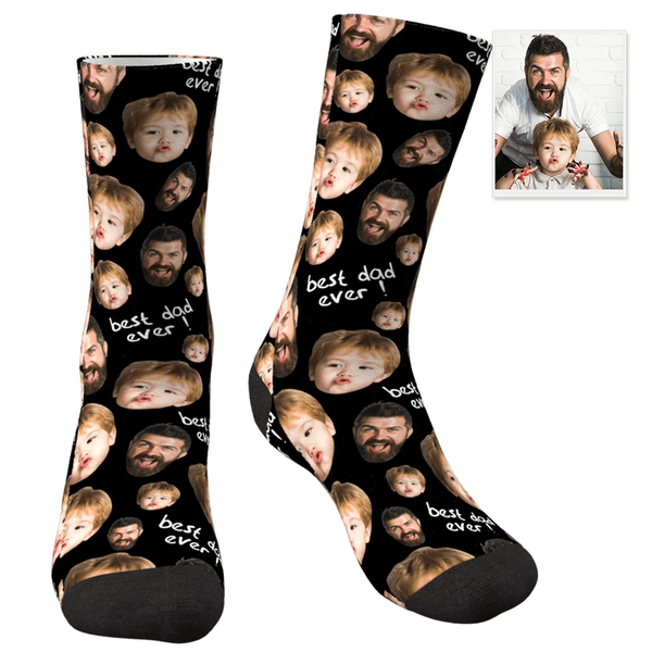 Custom Face Socks To The Best Dad