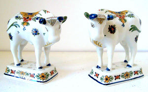 Pair of polychrome cows 1981 (↨ 3.94 inch/10 cm) Price € 160.- each