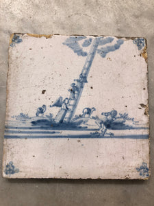 Bibical Delft handpainted dutch with angels