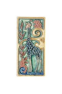 Nice royal delft tile with giraffe