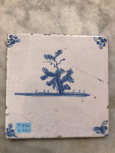 Delft handpainted dutch tile with tree