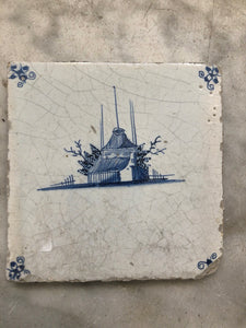 Delft handpainted dutch tile with landscape