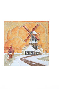 Royal Delft handpainted dutch windmill