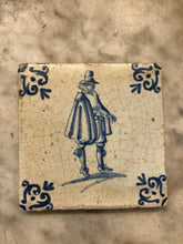 Load image into Gallery viewer, Nice delft handpainted dutch tile with gentleman
