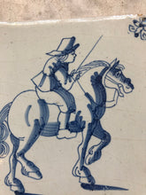 Load image into Gallery viewer, Nice rare 17 th century delft tile with horseman