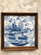 Afbeelding in Gallery-weergave laden, 18 th century delft tile with landscape