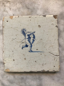 17 th century delft tile Vermeer angel