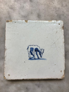 17th century Delft tile handpainted
