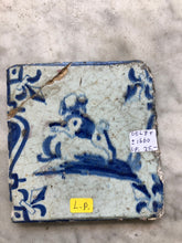 Load image into Gallery viewer, 17 th century delft tile with dog