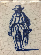 Load image into Gallery viewer, 17 th century delft tile with man on horse