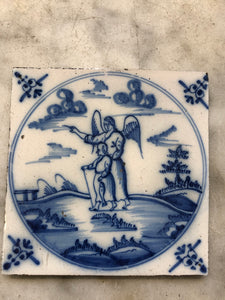 18 th century Delft handpainted tile