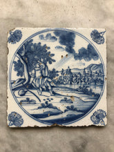 Load image into Gallery viewer, 18 th century delft tile bible scene