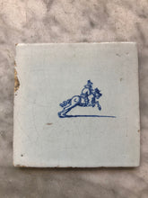Load image into Gallery viewer, Nice 17 th century delft tile with horseman