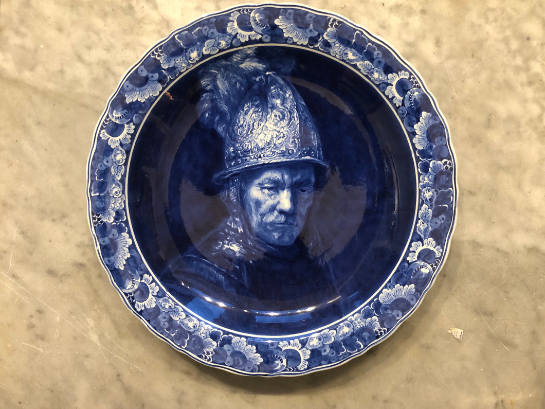 Royal Delft handpainted dutch charcher Rembrandt