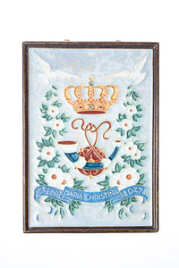 Royal Delft handpainted dutch tile Christina