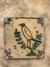 Load image into Gallery viewer, 17 th century delft tile with polychrome bird