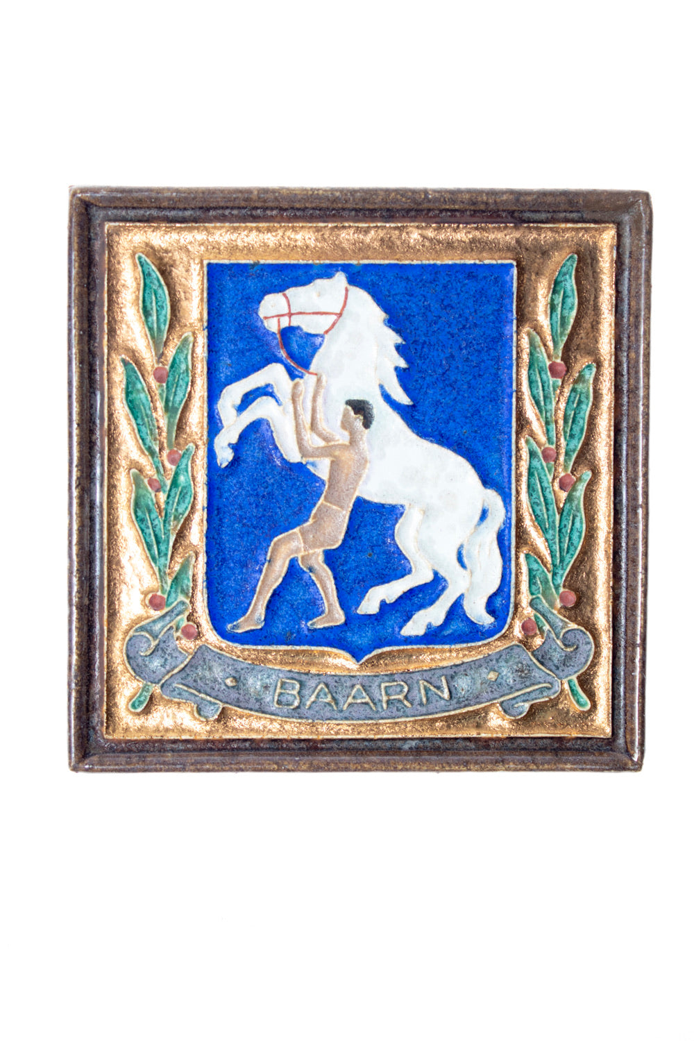 Nice royal delft tile with horse, Baarn