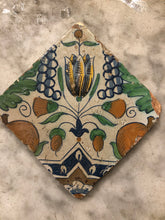 Load image into Gallery viewer, 17 th century delft tile with tulip